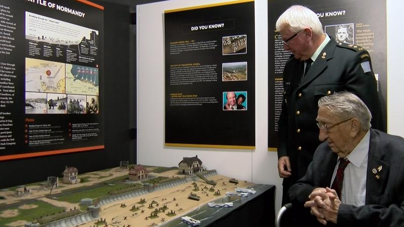 D-DAY/BATTLE OF NORMANDY TEMPORARY DISPLAY UNVEILING